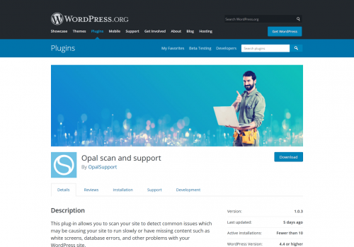 wordpress plugin scan and support